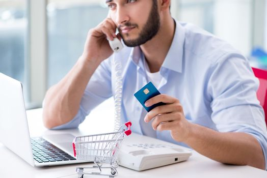 Paying for online purchase with credit at POS