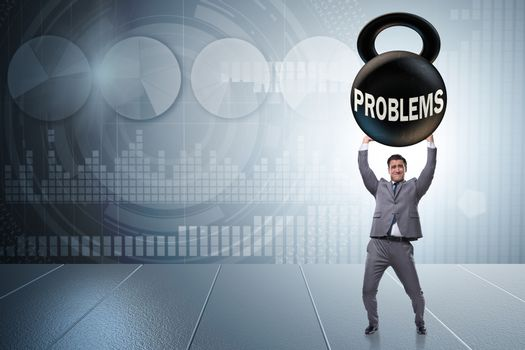 Business problem and challenge concept with businessman