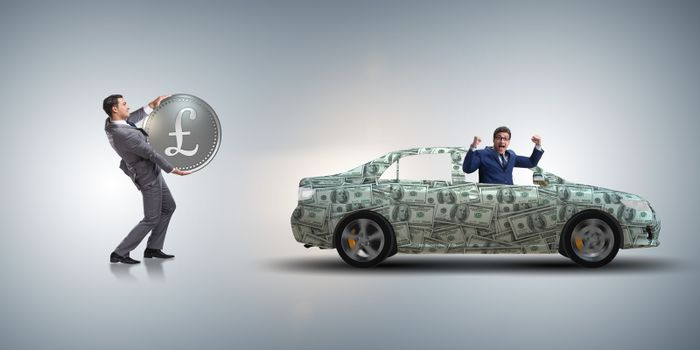Concept of car purchase on credit terms
