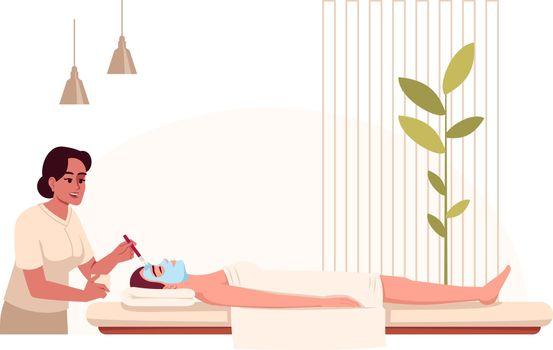 Spa treatment semi flat RGB color vector illustration