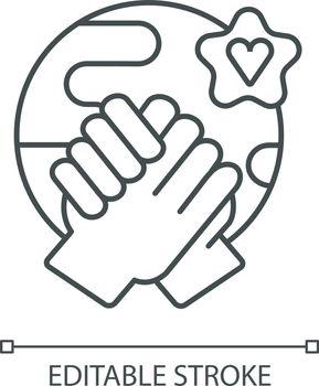 Tolerance linear icon