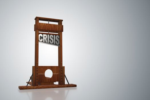Business concept of crisis and recession - 3d rendering
