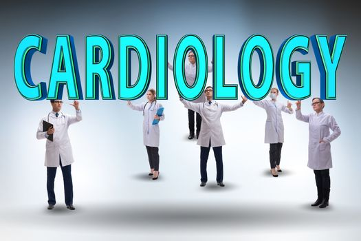 Telehealth concept with cardiology doctors
