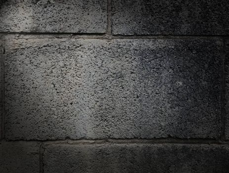 Cement wall surfaces affected by environmental changes.