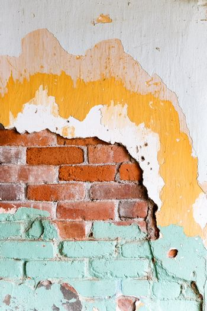 Image of Damaged brick wall