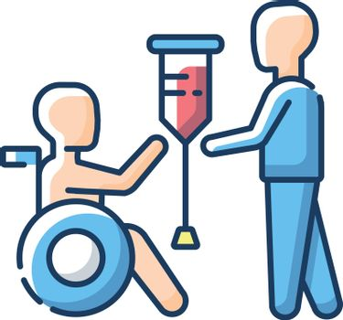 Rehabilitation services RGB color icon
