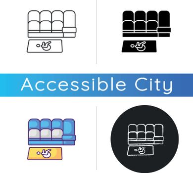 Accessible seating icon