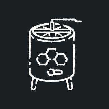 Honey extractor chalk white icon on black background