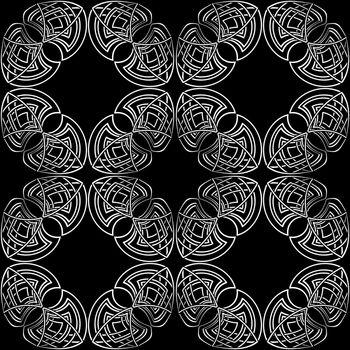 elegant dark monochrome seamless pattern in ancient gothic style