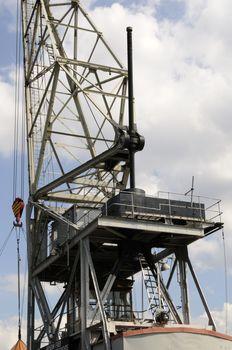 Floating crane HHLA I, Hamburg, Germany.