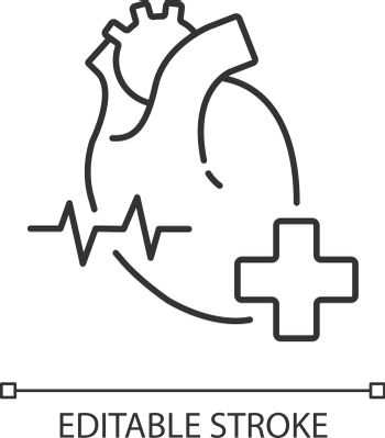 Cardiology department linear icon