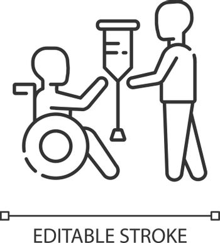 Rehabilitation services linear icon