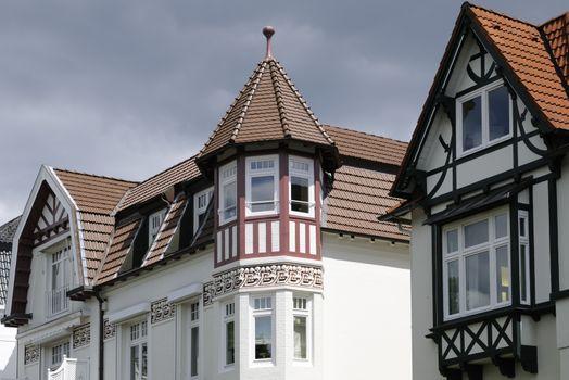 Exterior view of a villa in Hamburg, Germany.