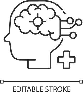 Neurological department linear icon