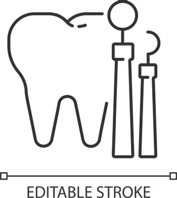 Dentistry linear icon