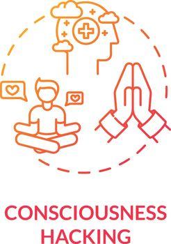 Consciousness hacking concept icon