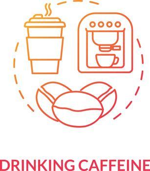 Drinking caffeine concept icons