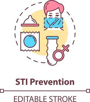 STI prevention concept icon