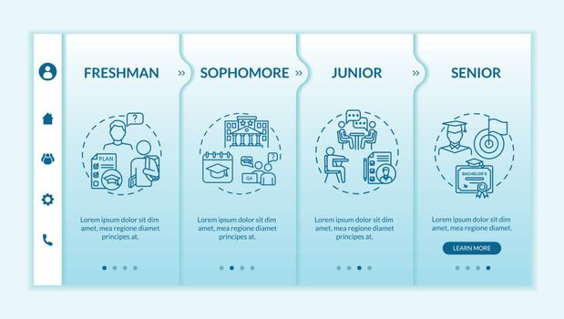 Students onboarding vector template
