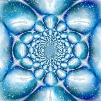 Spiritual fractal. Modern art. 3D rendering
