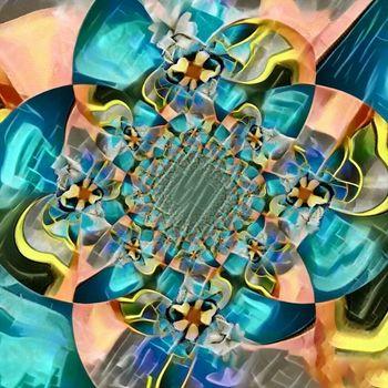 Abstract circles. Fractal art. 3D rendering