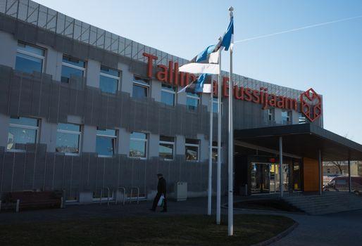 19 April 2018, Tallinn, Estonia. Tallinn bus station building