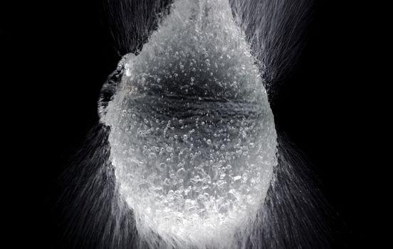 Water balloon exploding or splashing