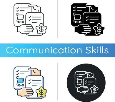 Selling skills icon