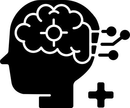 Neurological department black glyph icon