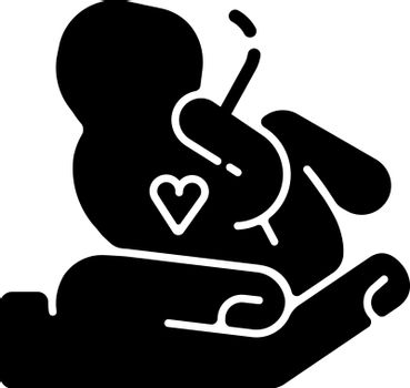 Maternity ward black glyph icon