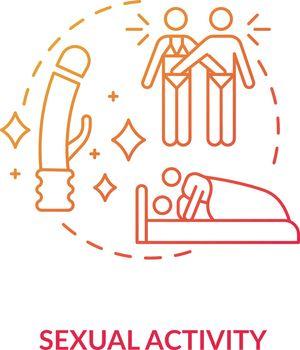 Sexual activity concept icon