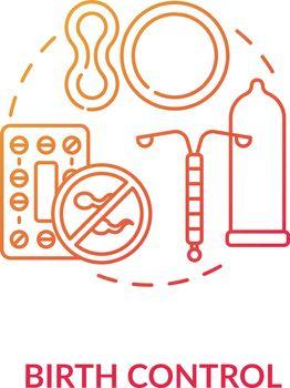 Birth control concept icon