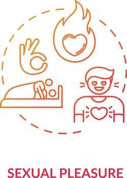 Sexual pleasure concept icon