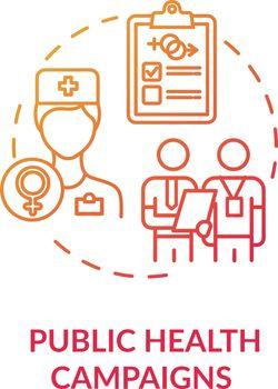 Public health campaigns concept icon