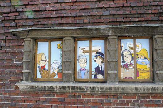 Comic strip seen in Schwerin, Germany.