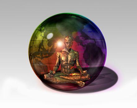 Cyborg in sphere