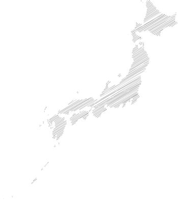 Japan - pencil scribble sketch silhouette map of country area with dropped shadow. Simple flat vector illustration