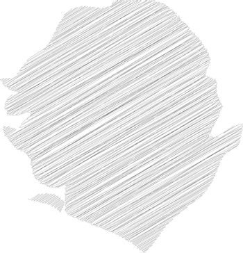 Sierra Leone - solid black silhouette map of country area. Simple flat vector illustration