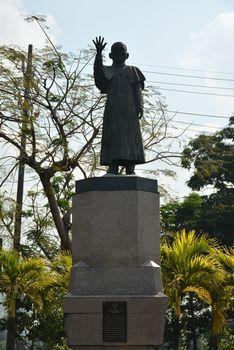 Cardinal Sin statue in Manila, Philippines