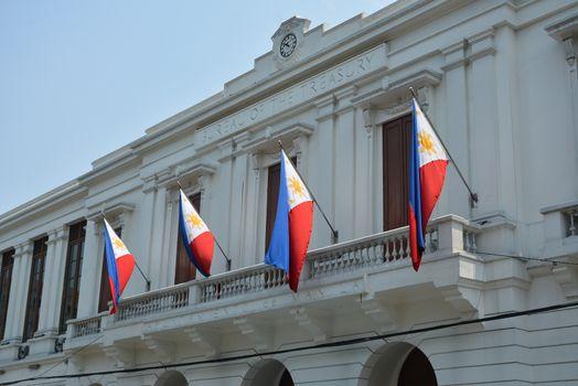 Bureau of the treasury building facade at Intramuros in Manila,