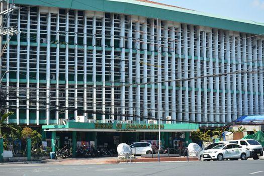 Bureau of Immigration facade at Intramuros in Manila, Philippine