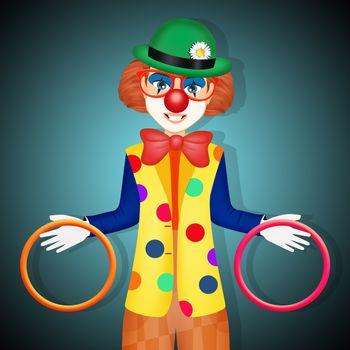 illustration of funny clown