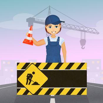 illustration of man worker