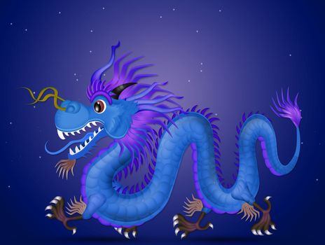 illustration of Chinese new year dragon