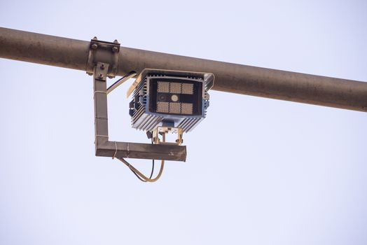 camera for electronic gate placed in the pedestrian area
