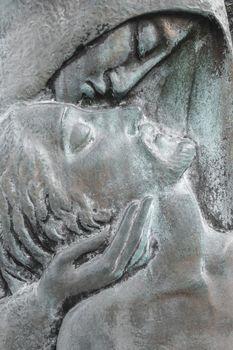 Virgin and Jesus bas relief