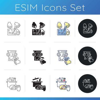 Professional service icons set