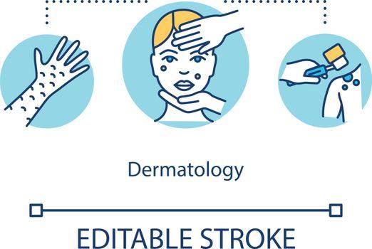 Dermatology concept icon