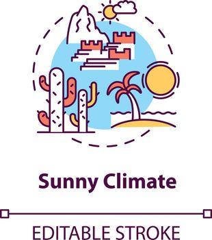 Sunny climate concept icon