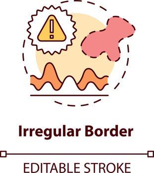 Irregular border concept icon